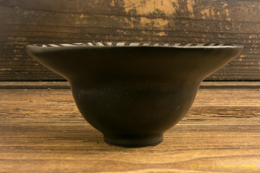 画像3: 柳忠義「黒 ストライプデザート鉢」