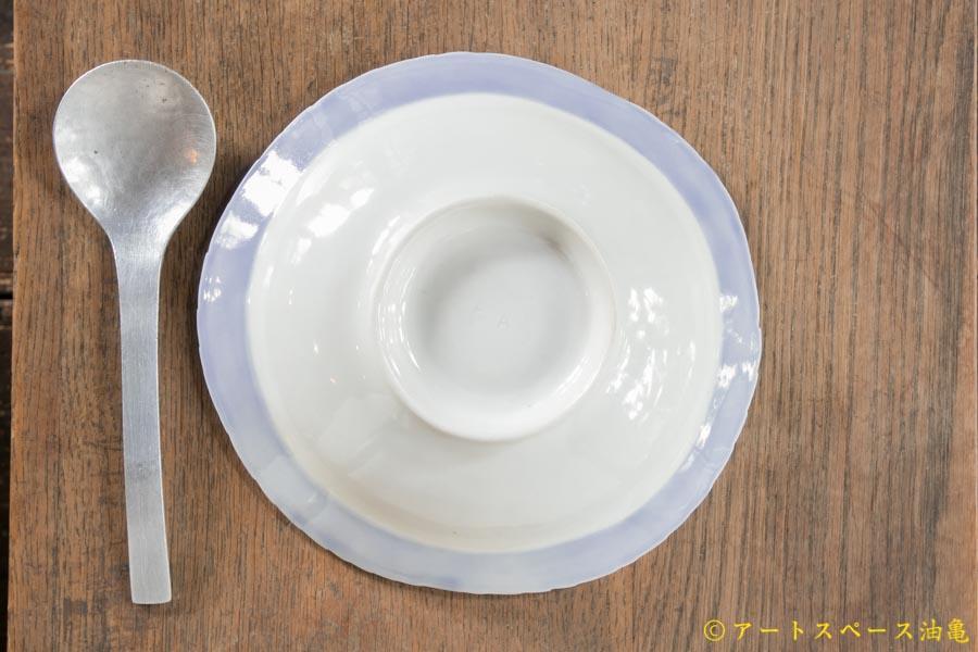 画像4: 柳忠義 半磁ほりこみ青 カレー皿