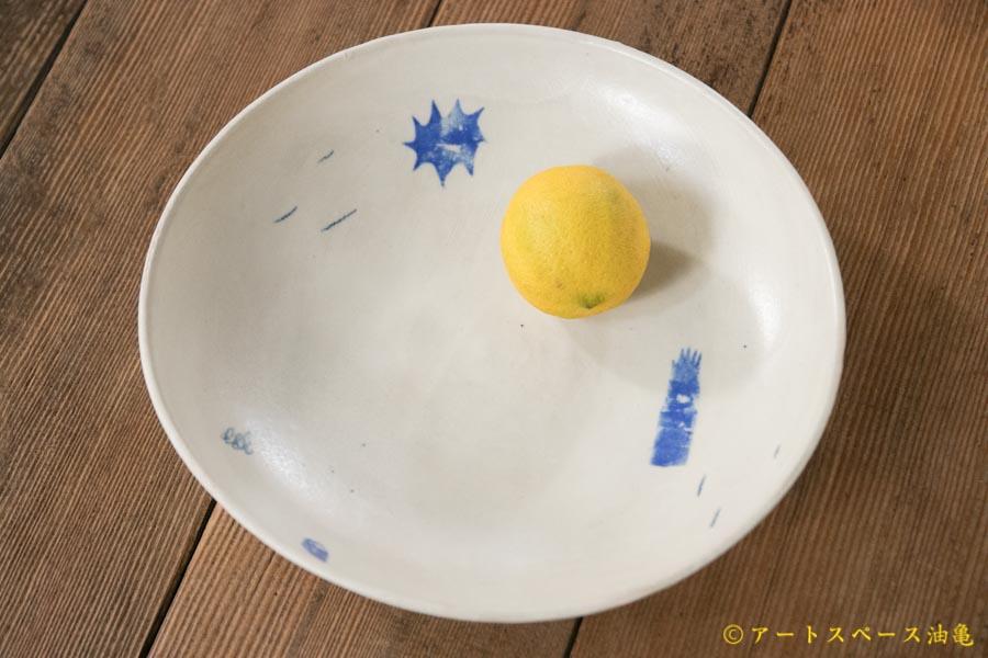 画像1: 矢尾板克則 色絵カレー皿 小