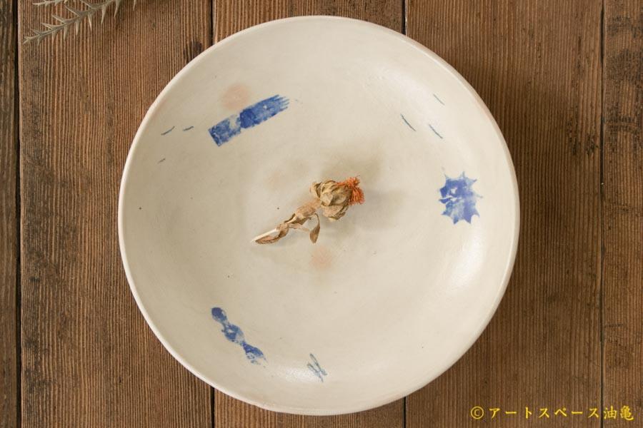 画像1: 矢尾板克則 色絵カレー皿 大