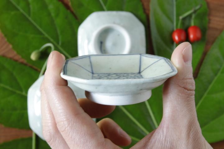 画像3: 吉田崇昭「染付 八角形絵替わり豆皿」