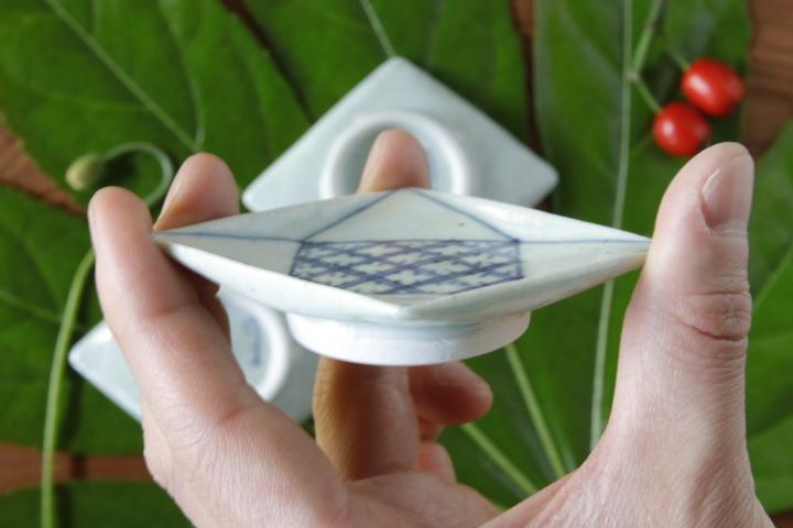 画像3: 吉田崇昭「染付 菱形絵替わり豆皿」
