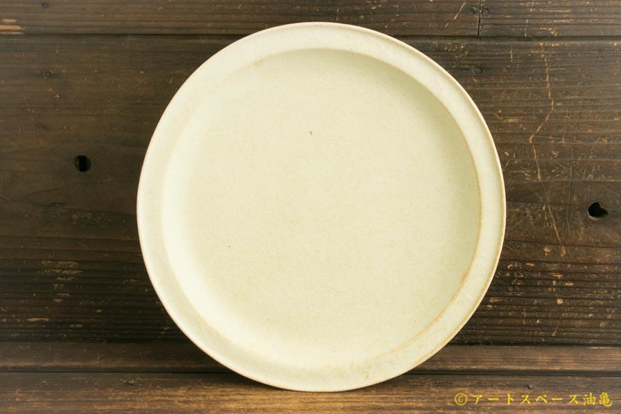 画像1: ヨシノヒトシ「淡緑瓷カレーリム皿」