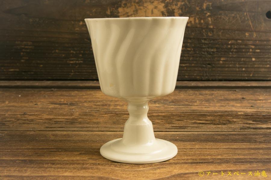 画像2: ヨシノヒトシ「白瓷ゴブレット」