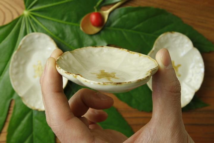 画像4: ヨシノヒトシ「黄白瓷木瓜亀豆皿」