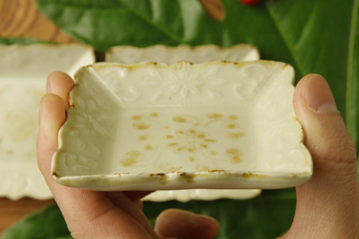画像4: ヨシノヒトシ「黄白瓷角豆皿」