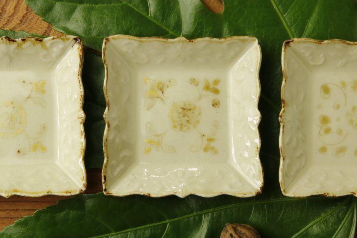 画像2: ヨシノヒトシ「黄白瓷角豆皿」