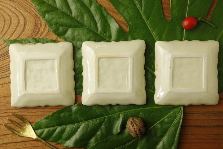画像3: ヨシノヒトシ「黄白瓷角豆皿」