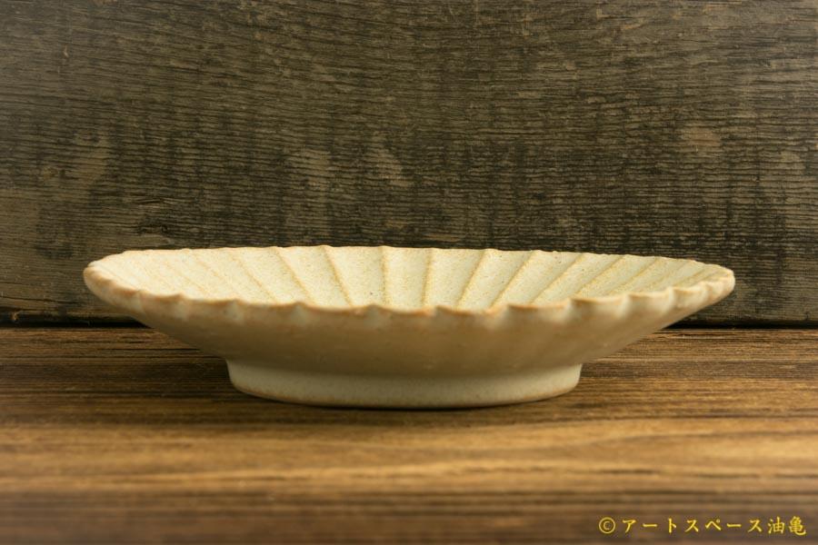 画像3: ヨシノヒトシ「淡緑瓷 菊割四寸皿」