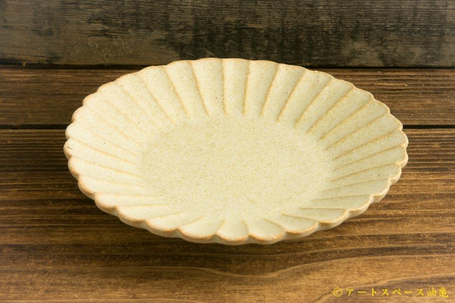画像4: ヨシノヒトシ「淡緑瓷 菊割四寸皿」