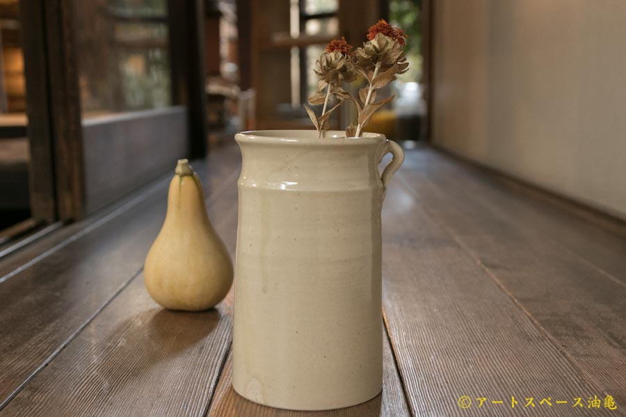画像1: ヨシノヒトシ 黄砂釉カトラリースタンド(大)