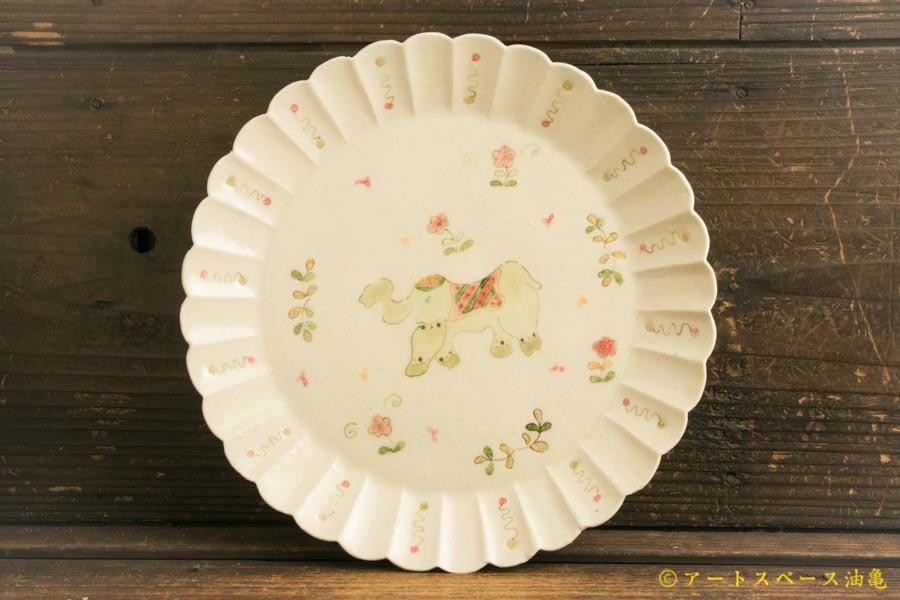 画像1: よしのちはる「インド象カレー皿」