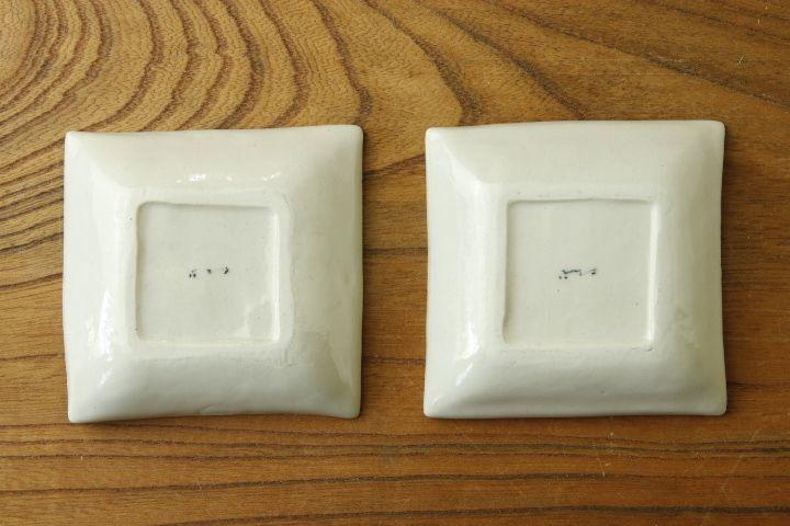 画像2: よしのちはる「菊紋 四角小皿」【アソート作品】