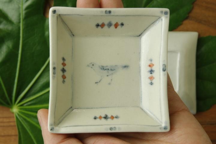 画像3: よしのちはる「鳥 四角小皿」