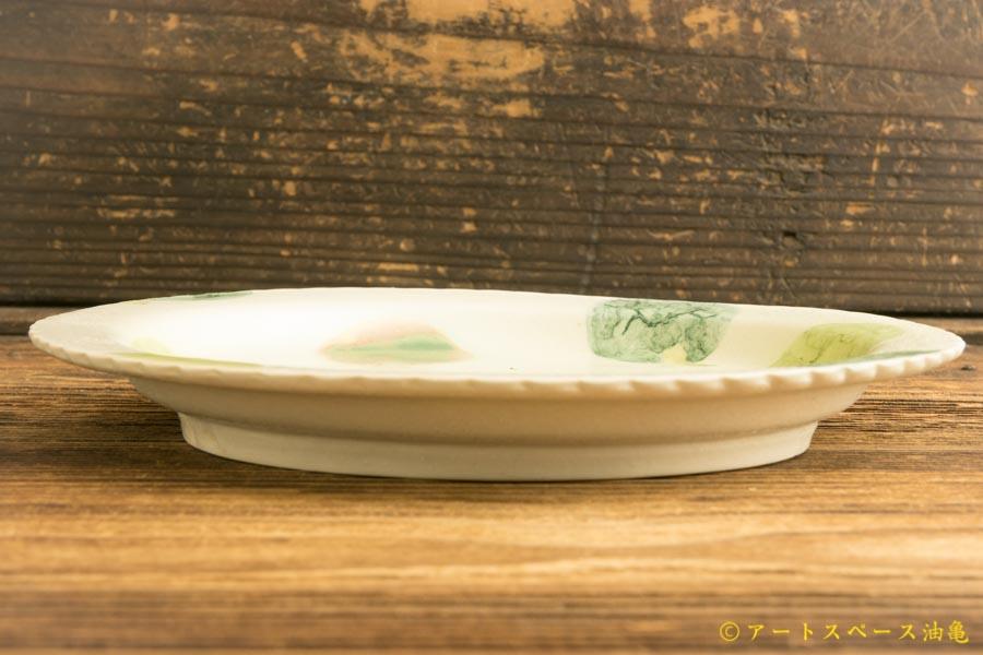画像3: よしのちはる「茶摘み六寸壁掛け皿」