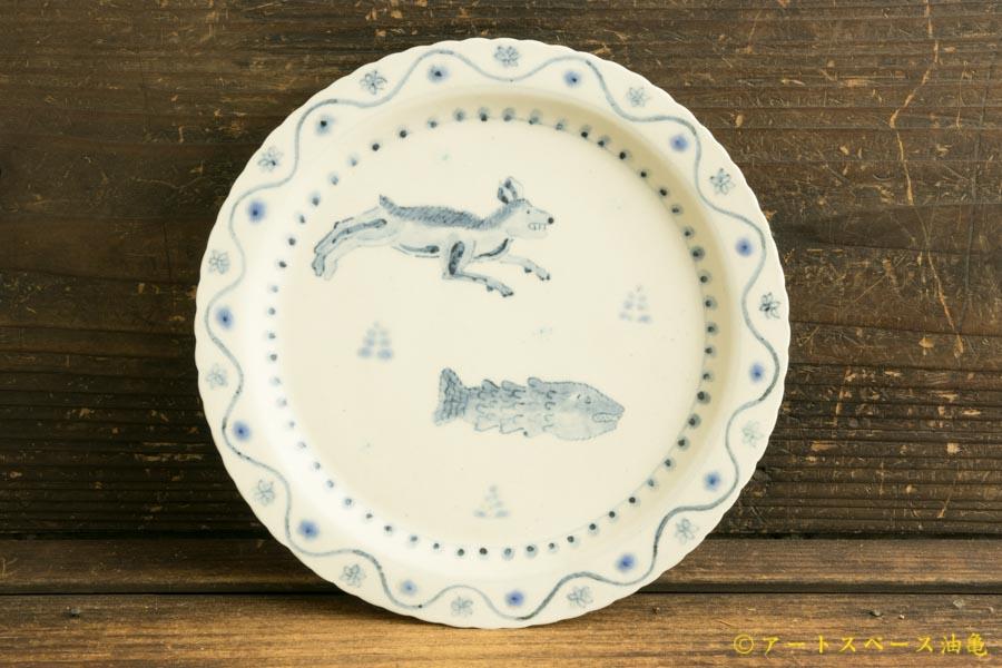 画像1: よしのちはる「犬と魚 七寸皿」