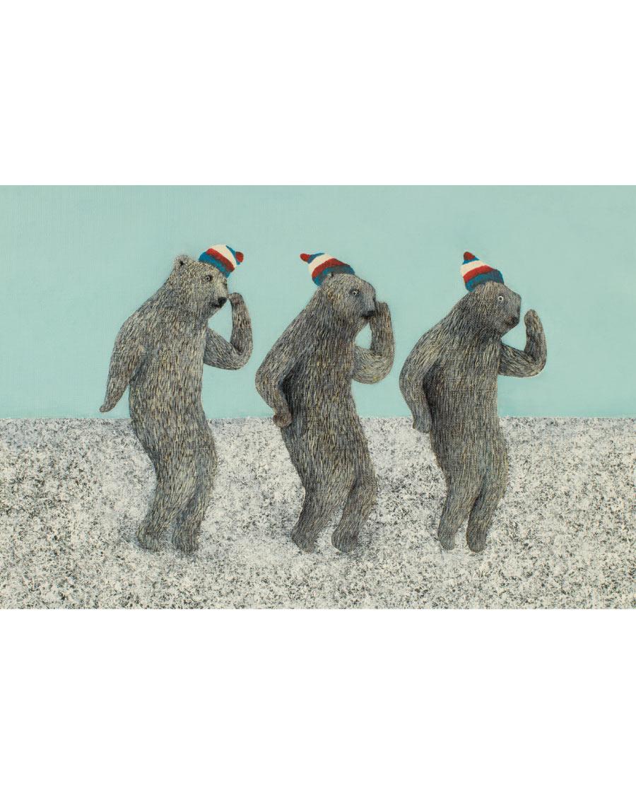 画像2: 吉行鮎子「DANCING くまさん」