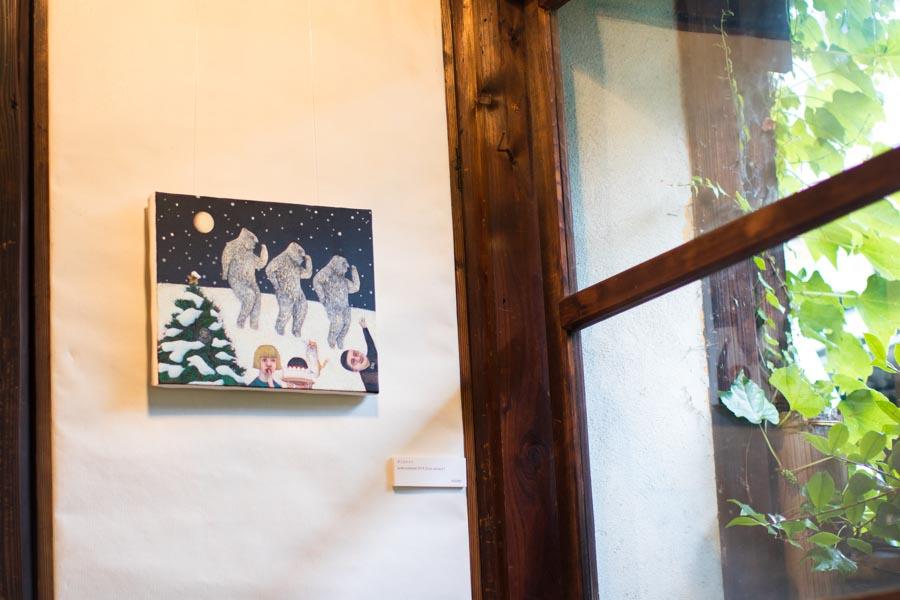 アートスペース油亀企画展 吉行鮎子絵画展「瞑想トラベル2」より